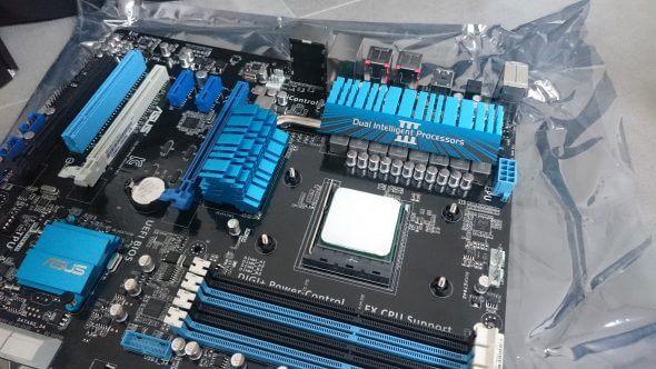 Wärmeleitpaste auf CPU verteilt