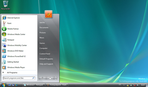 Bild MS Windows 7 Desktop