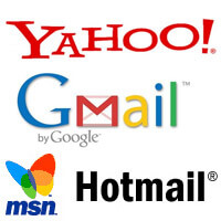 Yahoo Hotmail Gmail