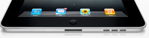 Apple iPad Tablet Unterseite