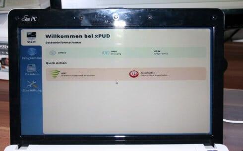 xPUD Startbildschirm