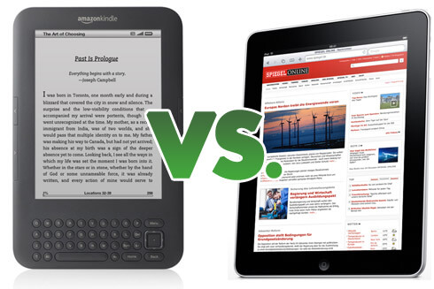 Amazon Kindle vs. Apple iPad