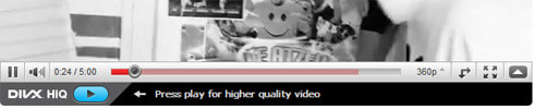 DivX HiQ unterhalb Youtube-Videos