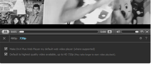 Divx Web Player HiQ Einstellungen