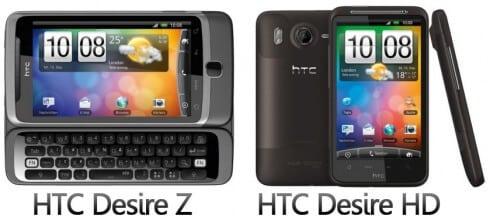 Neue HTC Desire Modelle