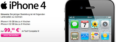 iPhone4 bei Telekom Mobilfunk