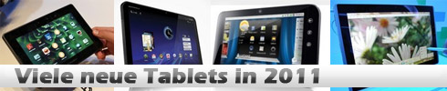 neue Tablets 2011