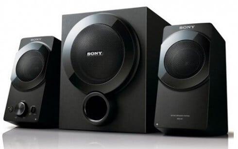 sony vier neue lautsprecher f r den computer. Black Bedroom Furniture Sets. Home Design Ideas