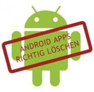 Android-Apps löschen