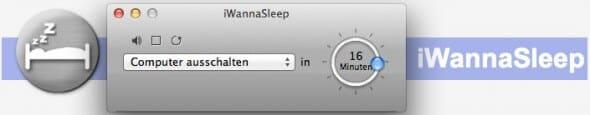 iWannaSleep - Mac OS X ausschalten
