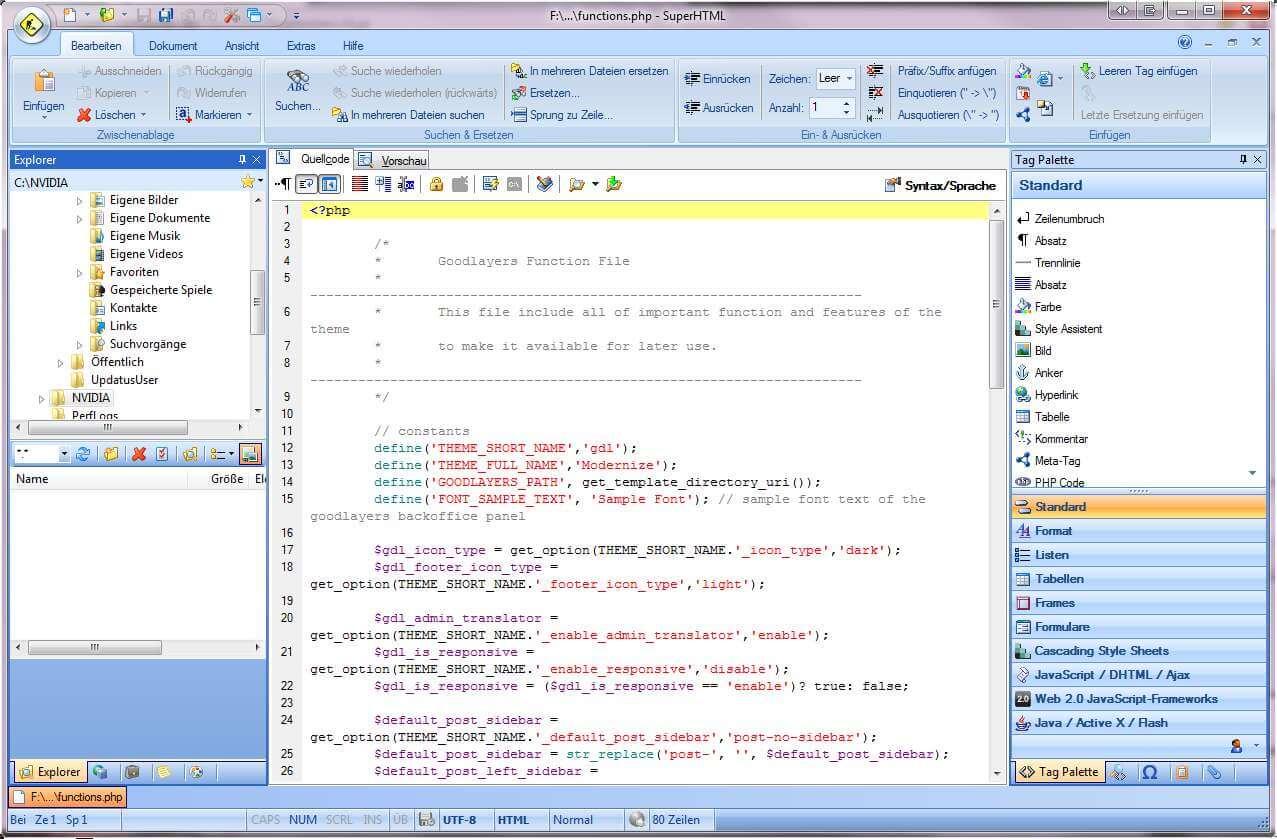 HTML Editor kostenlos   Liste von HTML Editoren