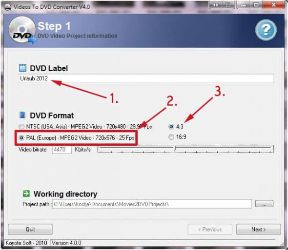 Videos to DVD Converter Step 1