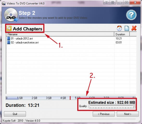Videos to DVD Converter Step 2