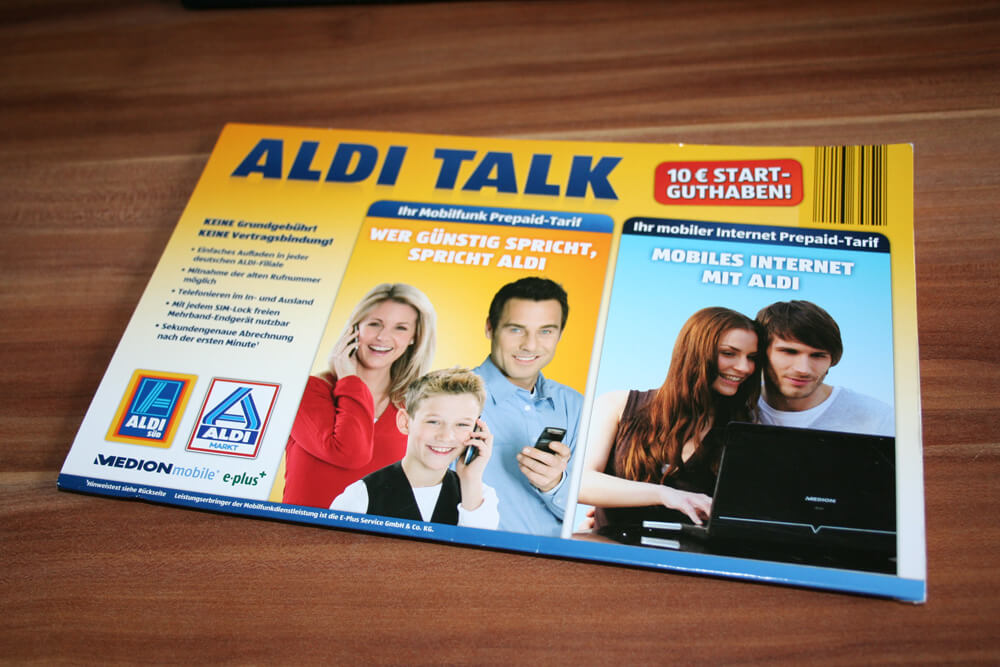 aldi sim karte Zweite SIM Karte: Aldi Talk Prepaid im Netz von E Plus