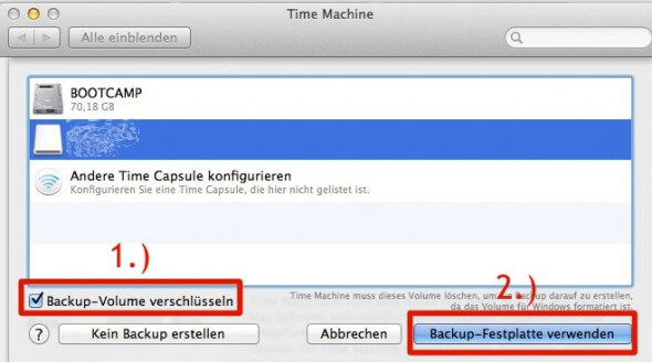 Time Machine Backup-Volume