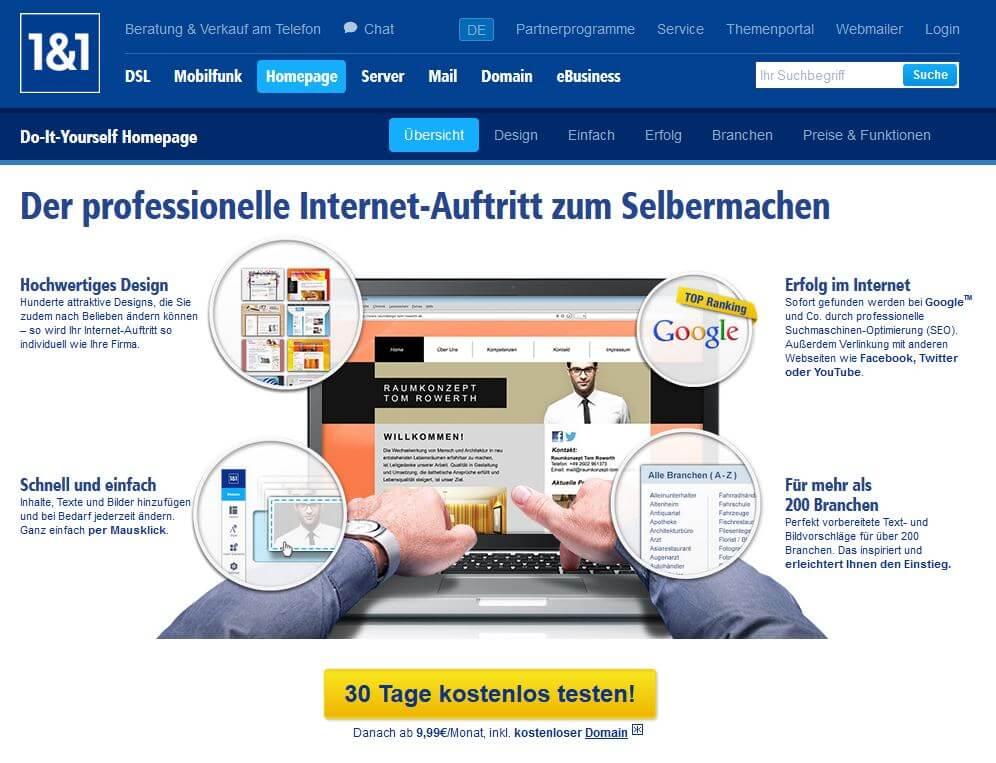 homepage testen kostenlos