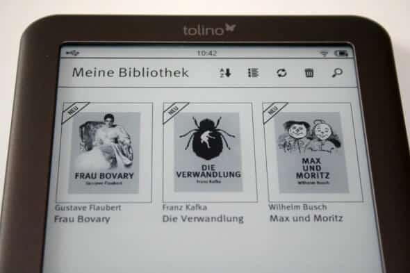 tolino shine: Meine Bibliothek mit 3 kostenlosen eBooks