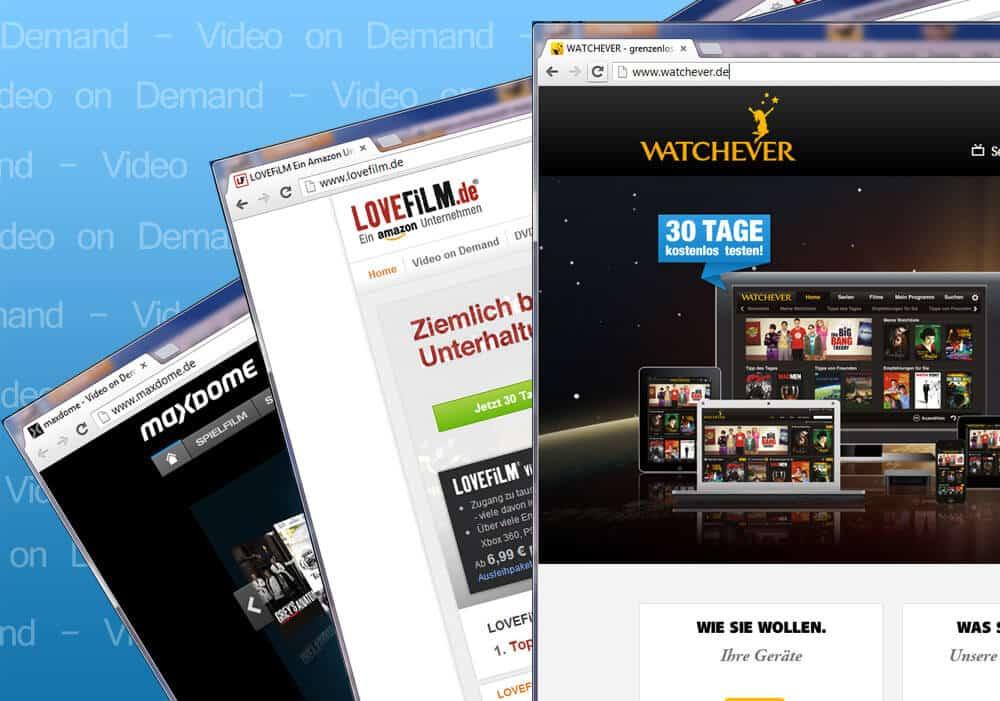 video on demand anbieter im vergleich watchever lovefilm. Black Bedroom Furniture Sets. Home Design Ideas