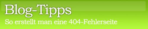 404 Fehlerseite erstellen in WordPress