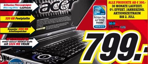 Acer Aspire 8930G-654G32BN bei Media Markt für 799 EUR