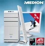 Aldi: MEDION P4350 D (MD 8336): Weißes Design Multimedia PC-Komplettpaket