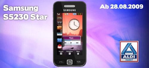 Aldi: Samsung S5230 Star Touchscreen-Handy für 139 Euro ab 28.08.2009