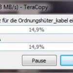 Schnell große Dateimengen kopieren mit TeraCopy