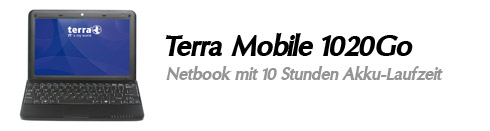 Terra Mobile 1020Go Netbook mit 10 Stunden Akku-Laufzeit
