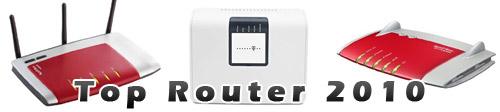 Top Router 2010: Übersicht von beliebten Routern für zu Hause