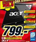 Media Markt: Acer Aspire 8730G-644G32MN Notebook für 799 EUR