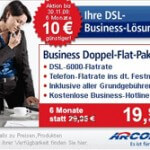 Business Internet: Arcor 6000 Business Doppel-Flat-Paket