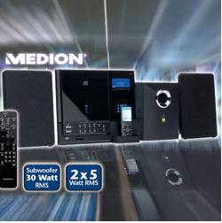 Aldi: Medion Design CD-MP3 Micro-Audio-System mit iPod-Dockingstation
