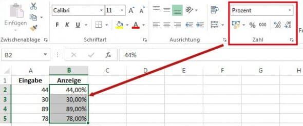 Excel Formatierung
