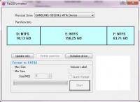 Laufwerke mit mehr als 32 Gigabyte als FAT32 formatieren – Freeware Fat32Formatter