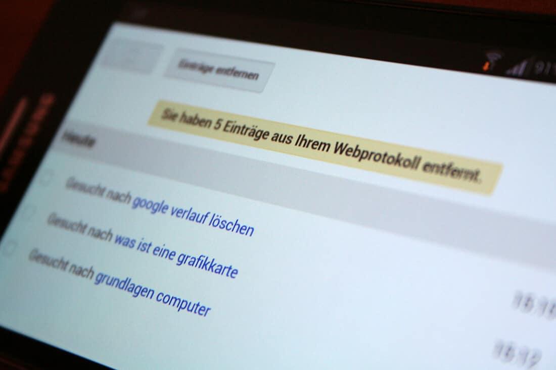 Google Verlauf löschen: Suchverlauf bei Firefox, Chrome, IE, Opera und Google löschen