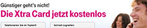 Kostenlose Xtra Card von Telekom Mobilfunk
