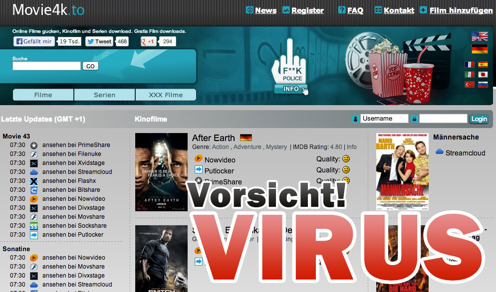 Movie4k Virus: Movie2k Nachfolger verbreitet Virus (iehighutil.exe)
