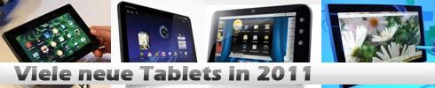 Neue Tablets bei der CES 2011 – RIM BlackBerry PlayBook, Motorola Xoom, Dell Streak 7 und ASUS eee Pad