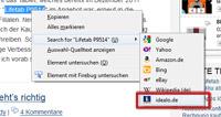 Rechtsklick-Suche bei Firefox mit eigener Suchmaschine [Anleitung]