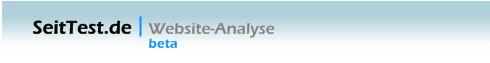 Analyse des Blogs mit Seittest - Urteil: Sehr gut!