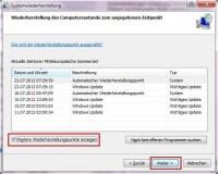 Wiederherstellungspunkt erstellen und in Windows 7 aktivieren