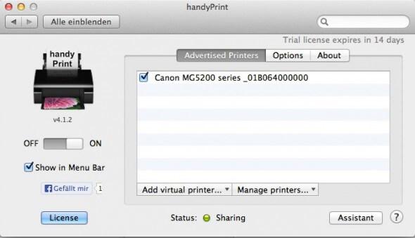 Handyprint - ohne AirPrint drucken
