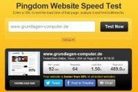 Pingdom Website Speed-Test (Nachher)