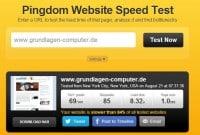 Website Speed Test von Pingdom.com