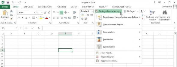 bedingte Formatierung in Excel