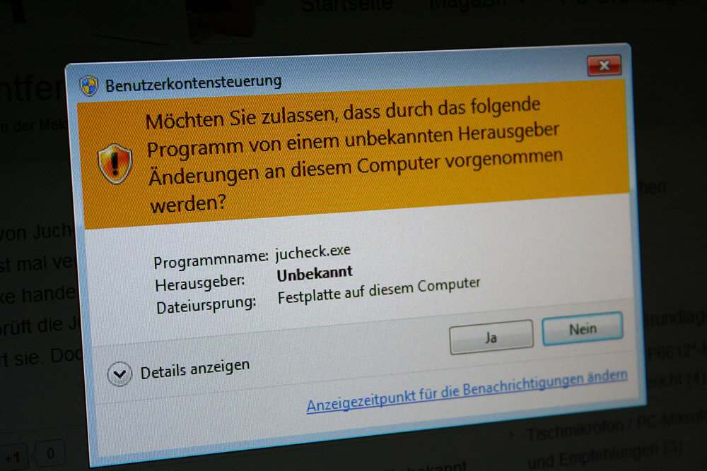 Jucheck.exe deaktivieren: Entfernen der Meldung in Windows 7