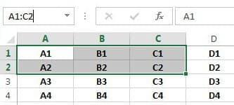 Zellbereich Excel