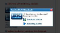 H.264 Streaming/Download bei Save.TV