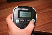 4.) DYMO Druck-Taste
