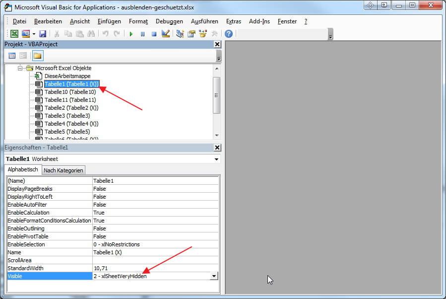 Tabellenblätter in Excel einblenden/ausblenden [Excel Tutorial ...